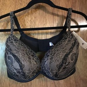 Black Lace Plunge Bra